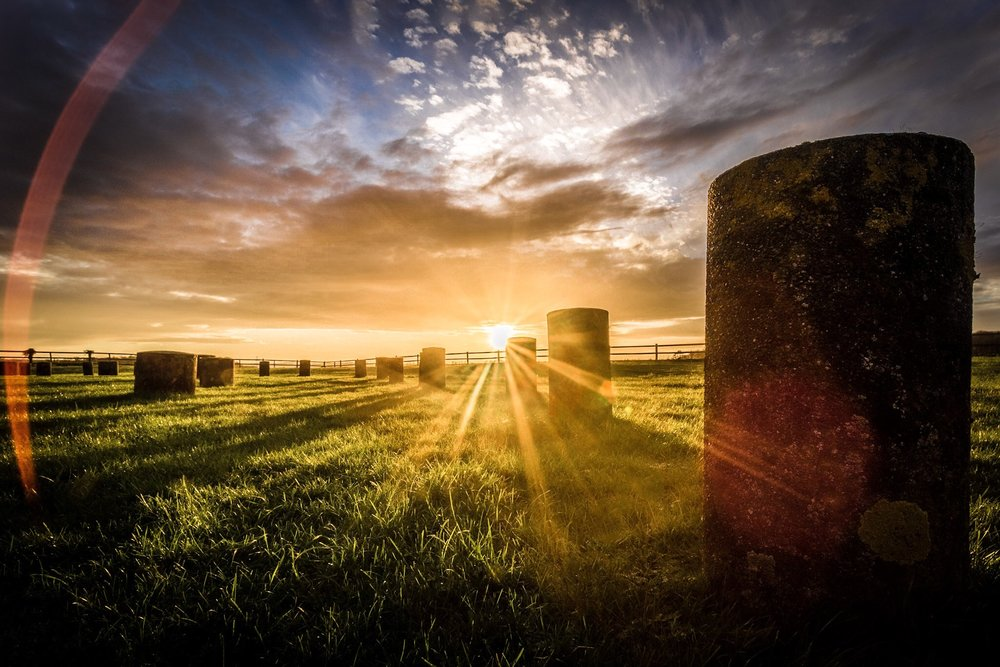 Woodhenge at sunset by Rick Mcevoy Wiltshire Photographer