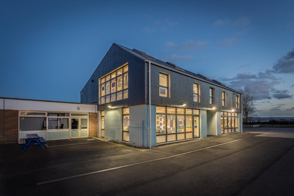 Architectural photography in Dorset - the new extension to Hamworthy Park Junior School