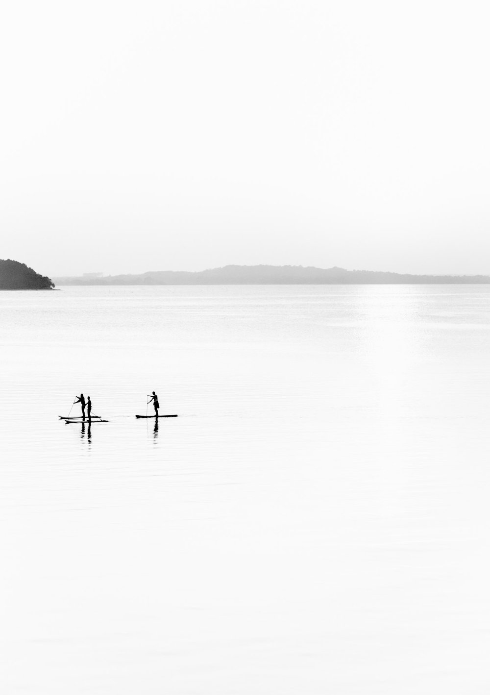 Picture of paddle boarders in Sandbanks. Poole