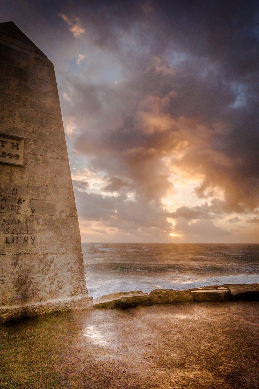 Obelisk. Portland by RIck McEvoy Dorset Photographer