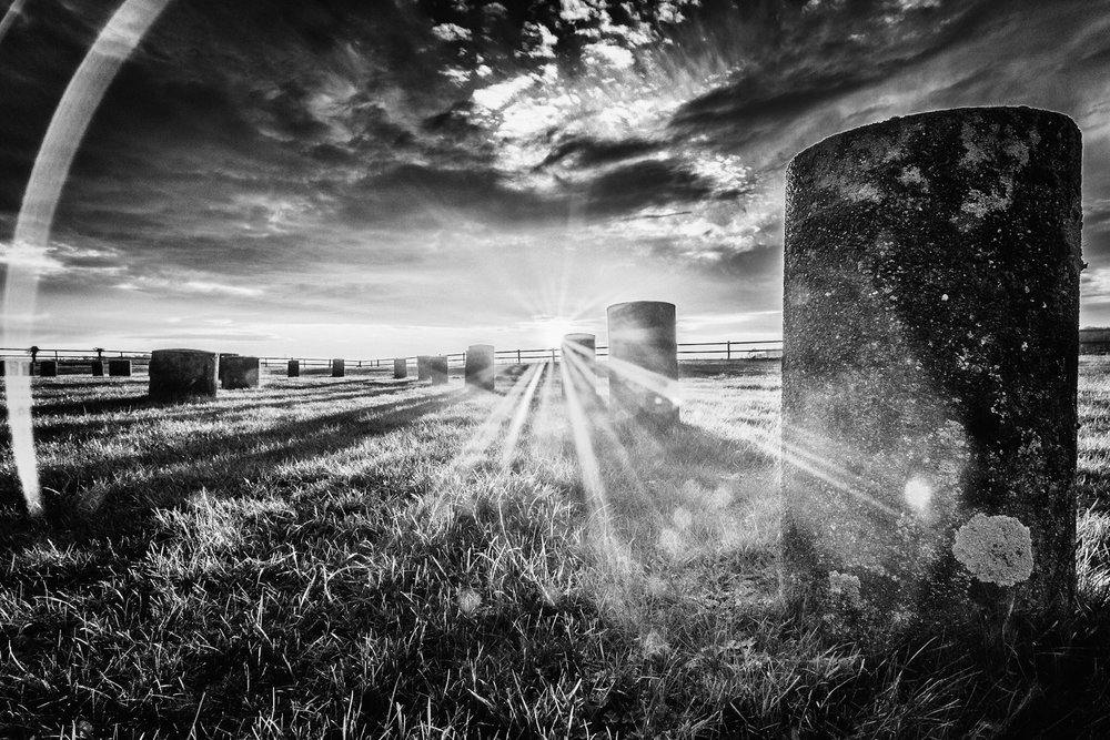 Woodhenge in black and white by Rick McEvoy landscape photographer