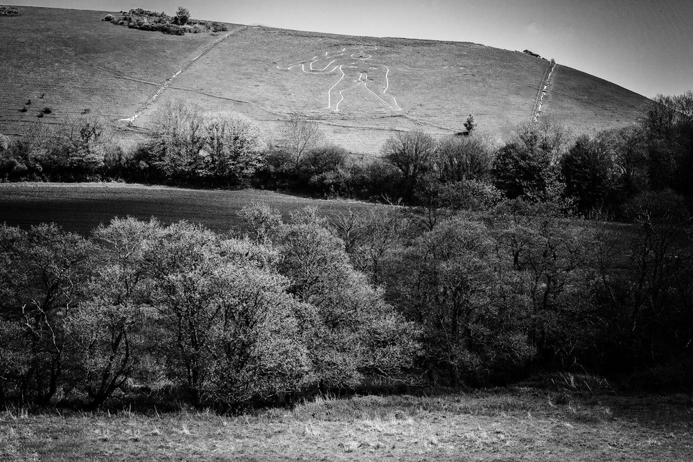 Black and white landscape photography in Dorset