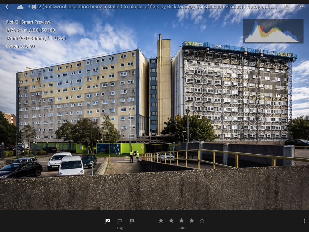 Screenshot of a construction product image in Lightroom Mobile on my iPad Pro