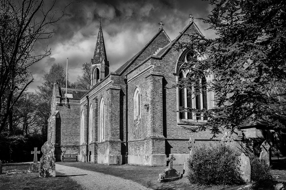 Black and white architectural photography in Hampshire by Rick McEvoy