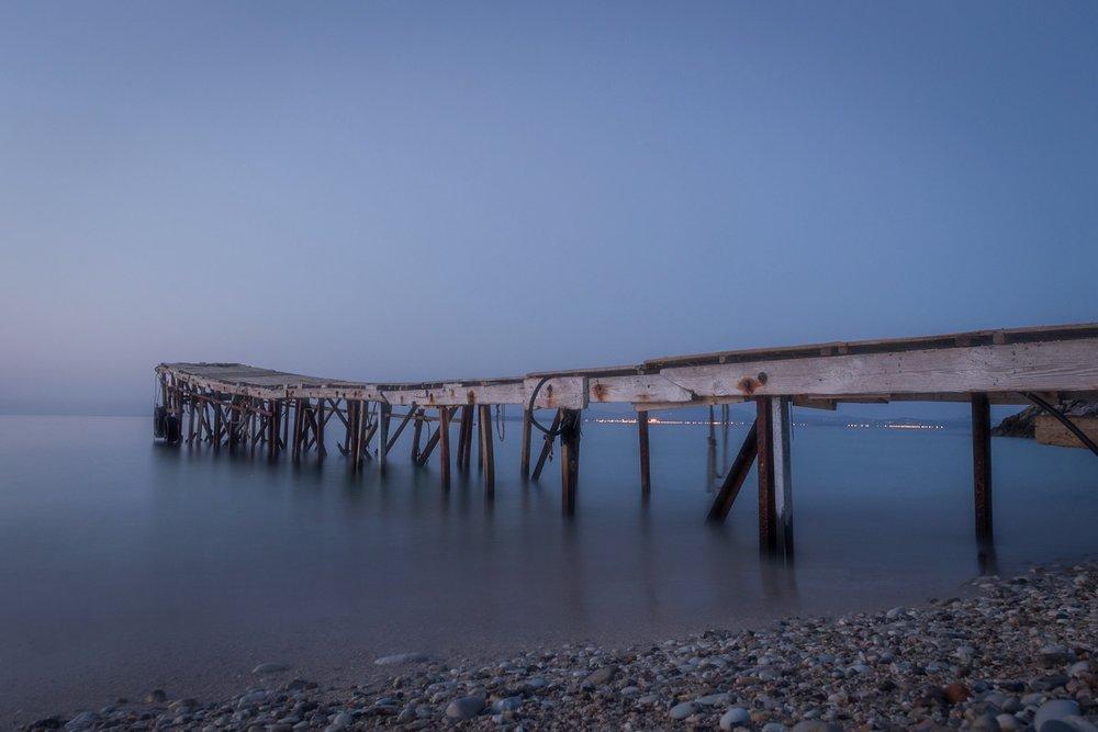 Jetty. Nissaki Beach. Corfu.