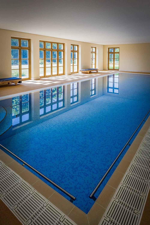 Swimming pool by Rick McEvoy interior photographer in Dorset