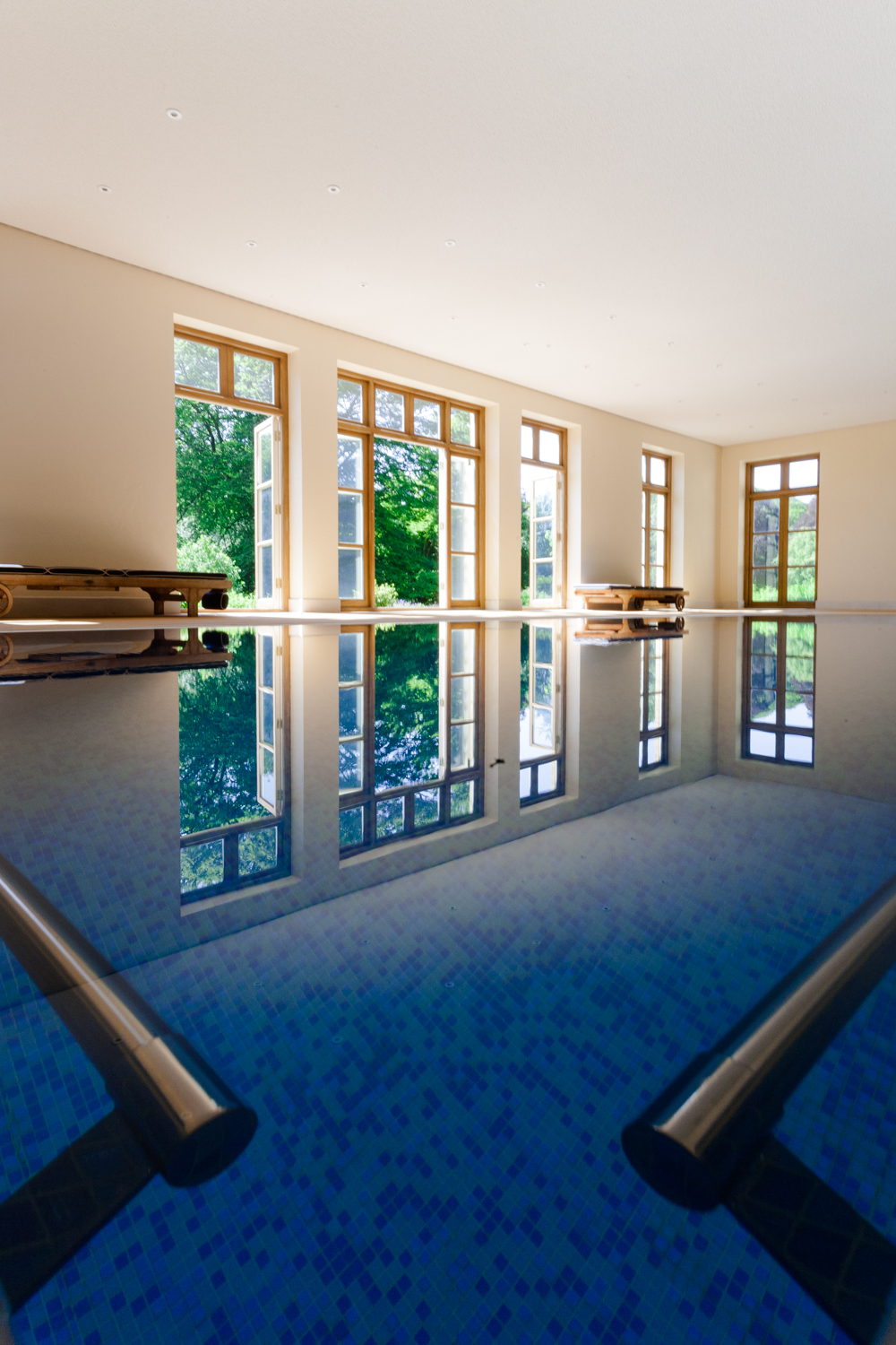 Interior photographer - picture of a private swimming pool in Dorset