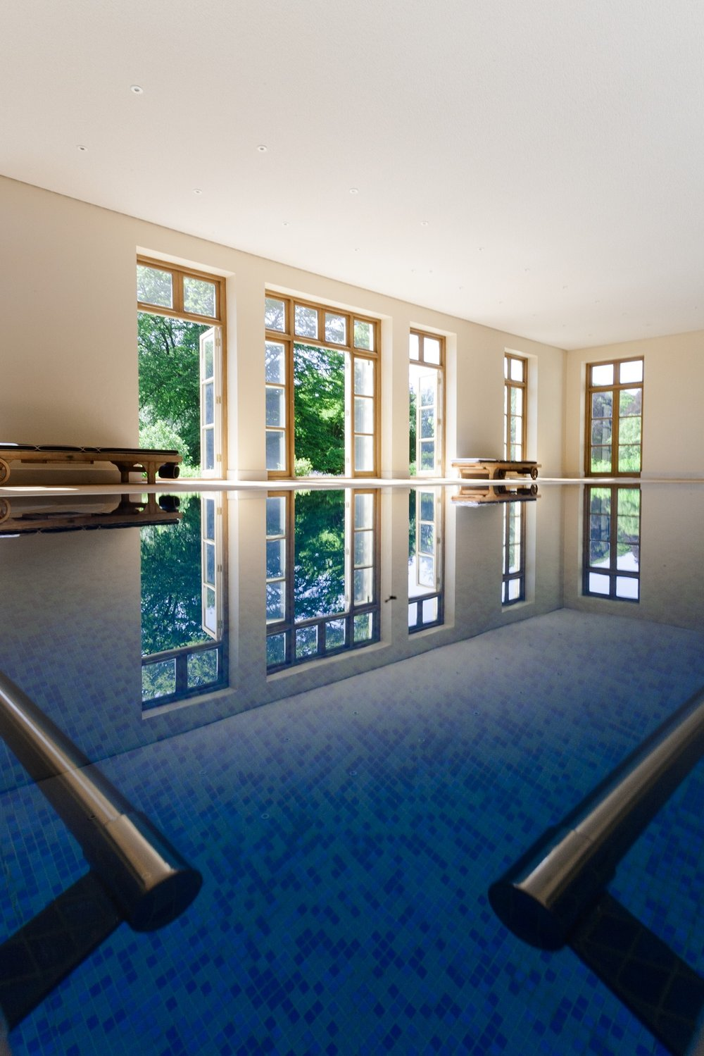 Picture of a swimming pool by Rick McEvoy - interior photographer in Dorset