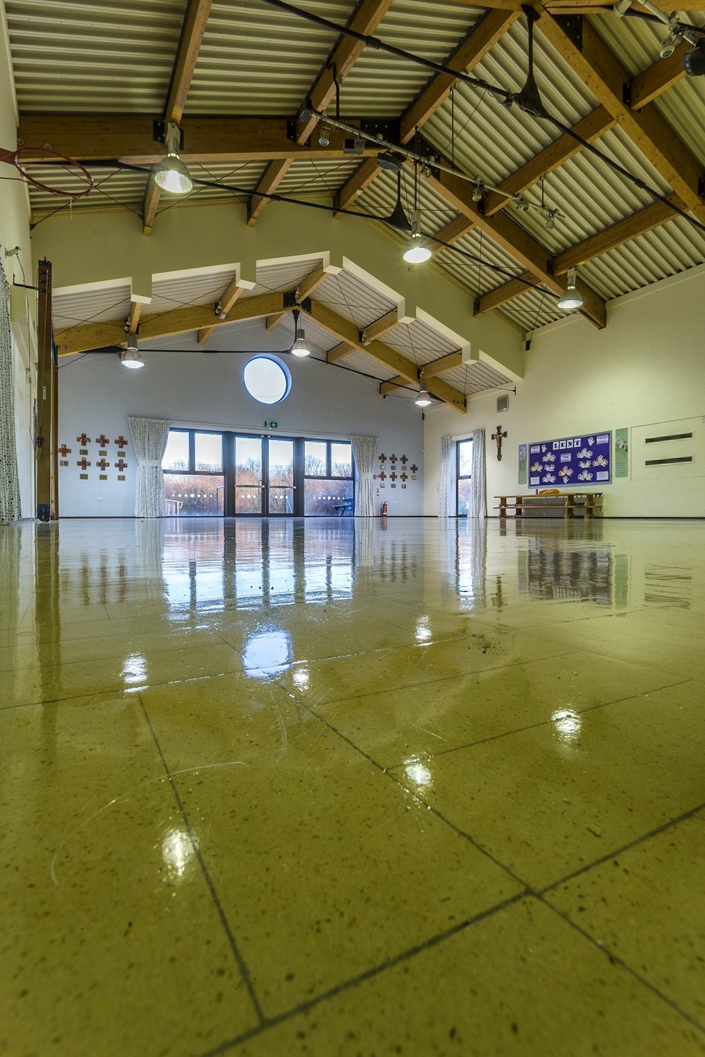 Picture of an extension to a school hall by Rick McEvoy interior photographer in Hampshire
