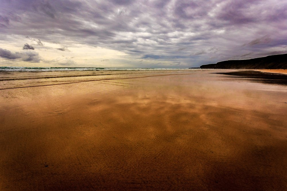 Picture of the beach at Watergate Bay by Rick McEvoy Cornwall Photographer