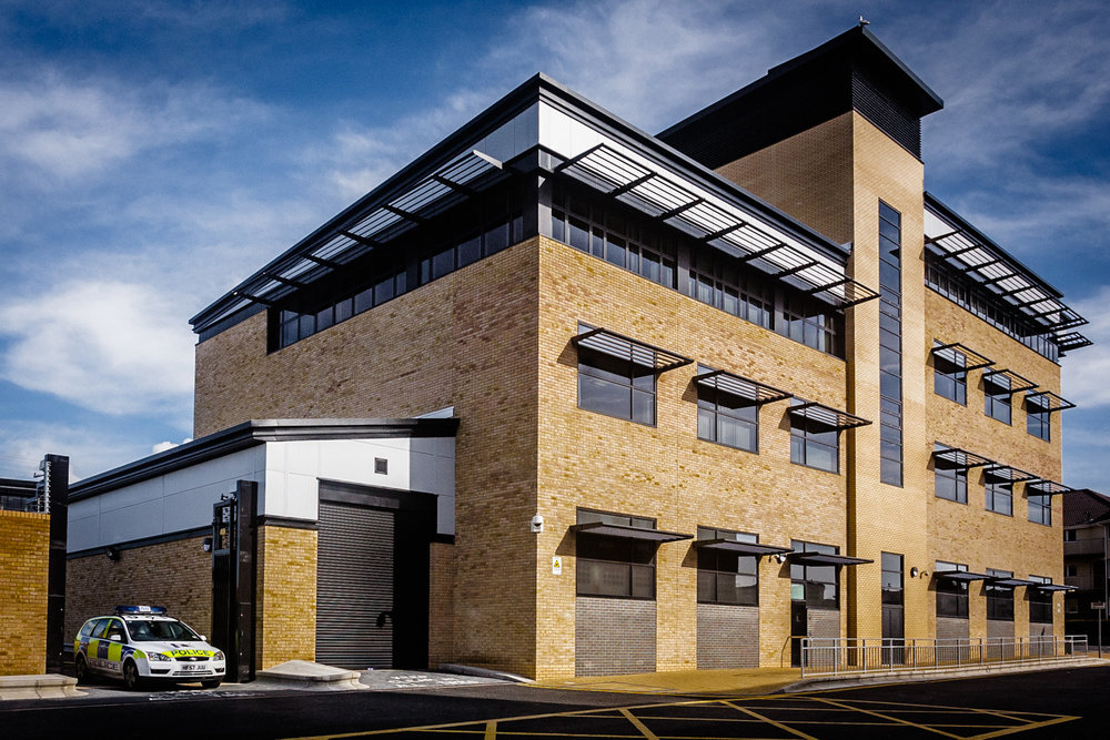 Poole Police Station by architectural Photographer Rick McEvoy