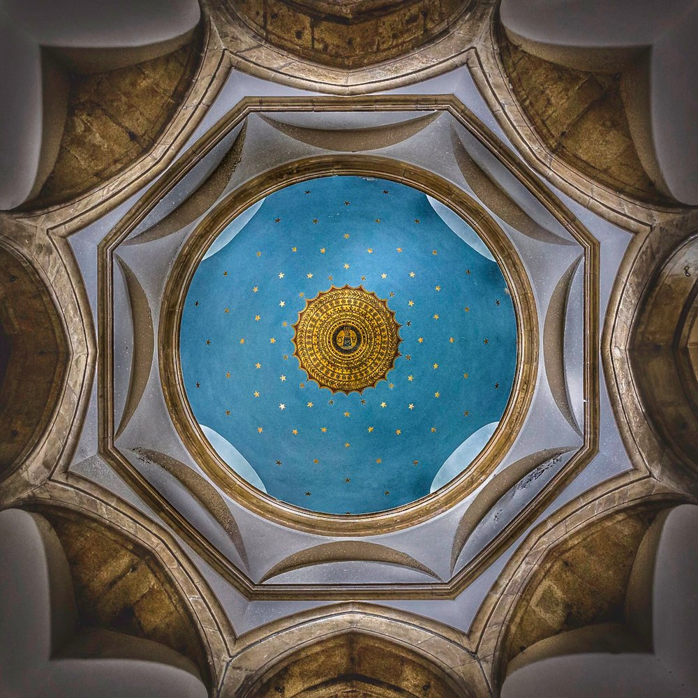 The ceiling of Chideock Church by Rick McEvoy interior photographer in Dorset