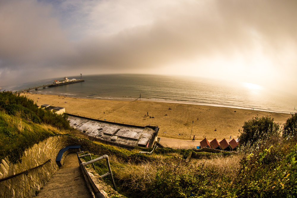 Bournemouth Pier and Beach by Rick McEvoy Bournemouth Photographer