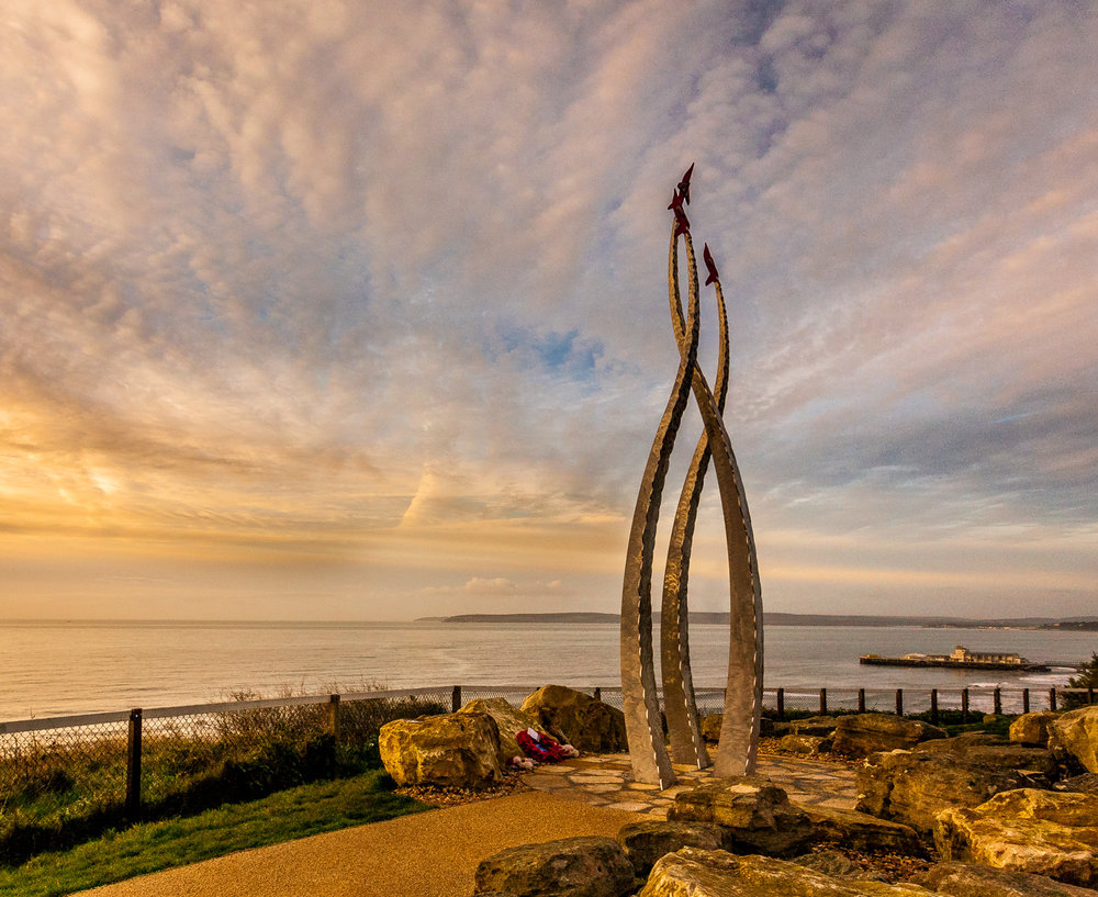 Red Arrows Memorial Sculpture by Rick McEvoy Bournemouth Photographer