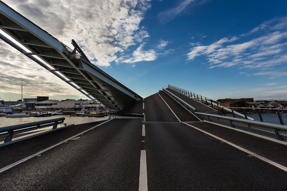 Twin Sails Bridge by Rick McEvoy Construction Photographer in Poole