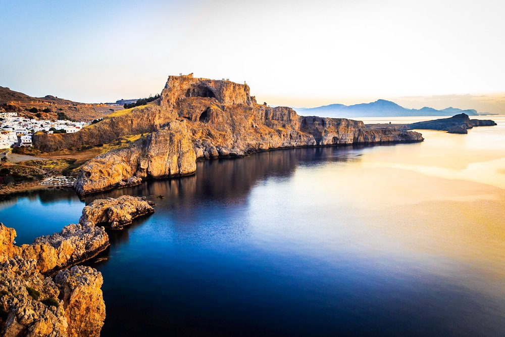 The Acropolis of Rhodes at sunrise by Rick McEvoy travel photographer