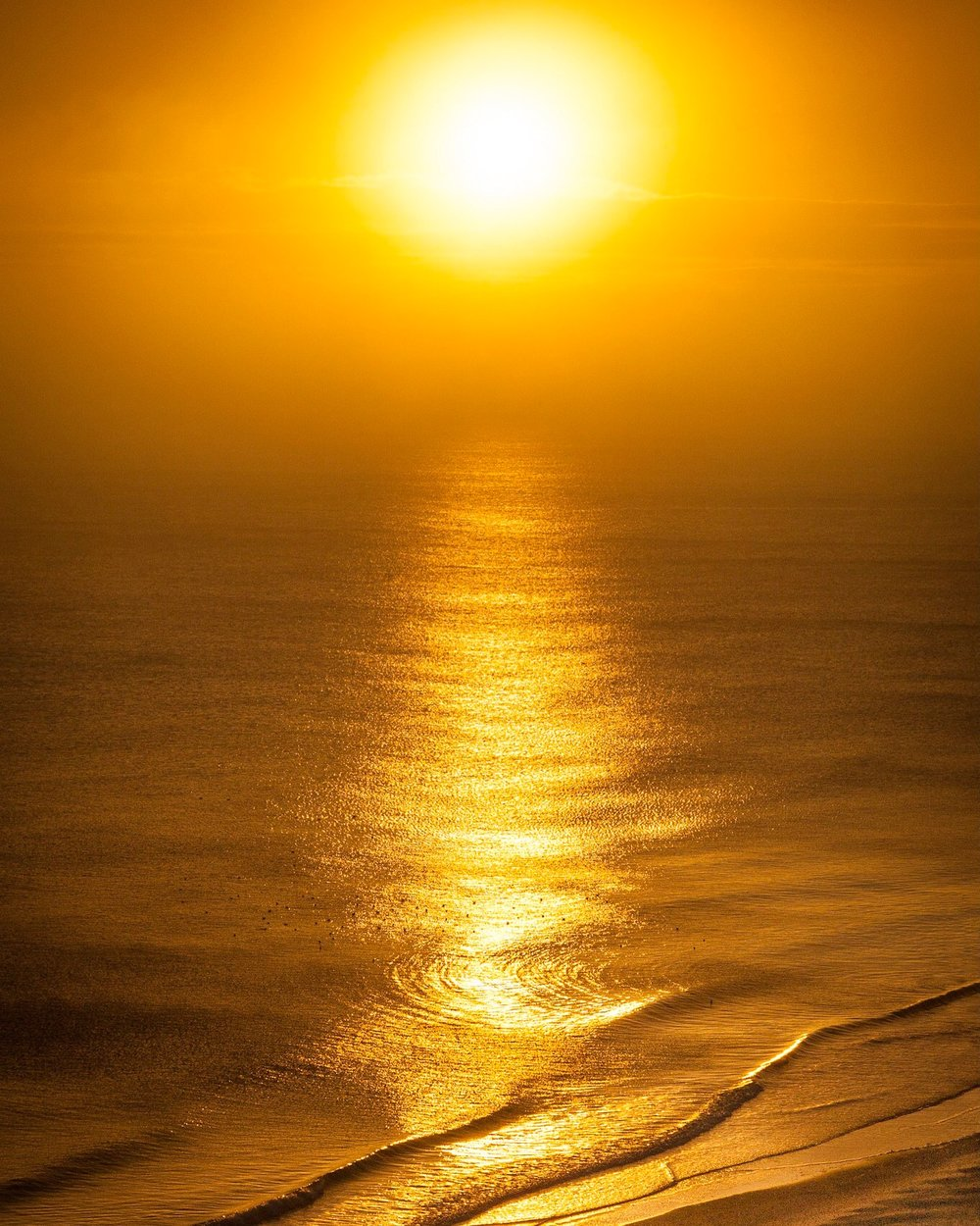 Golden sunshine on the beach by Rick McEvoy Bournemouth Photographer
