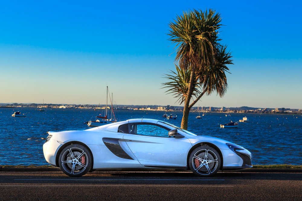 Maclaren car by Rick McEvoy commercial photographer in Sandbanks