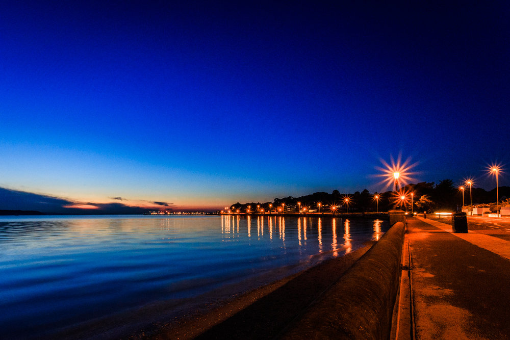Blue hour in Sandbanks by Rick McEvoy fine art photographer in Sandbanks