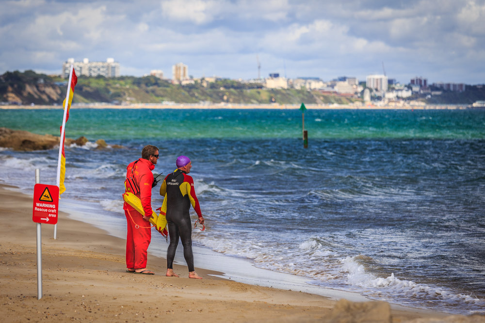 RNLI training on Sandbanks beach by Rick McEvoy commercial photographer in Sandbanks