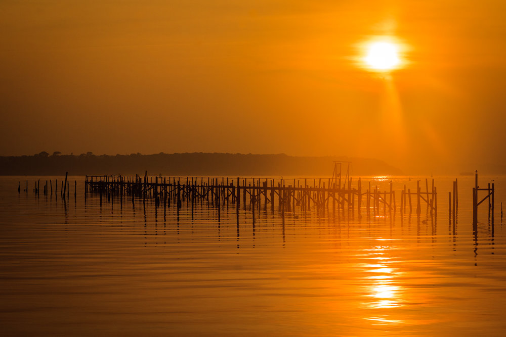 Sunset jetty by Rick McEvoy landscape photographer in Sandbanks