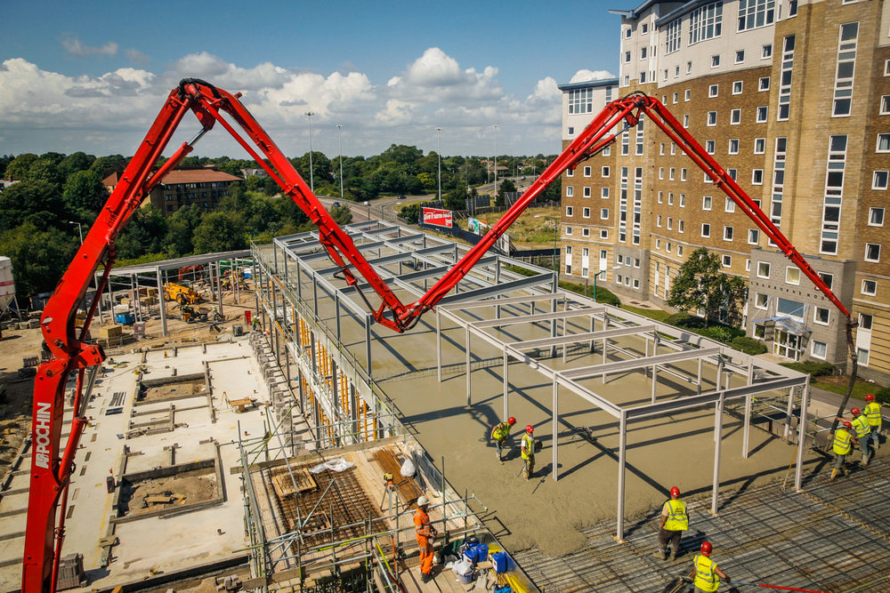Concrete pour in Bournemouth by Rick McEvoy Construction Photographer.JPG