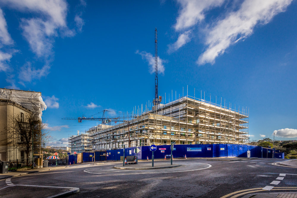Major development in Bournemouth by construction photographer Rick McEvoy