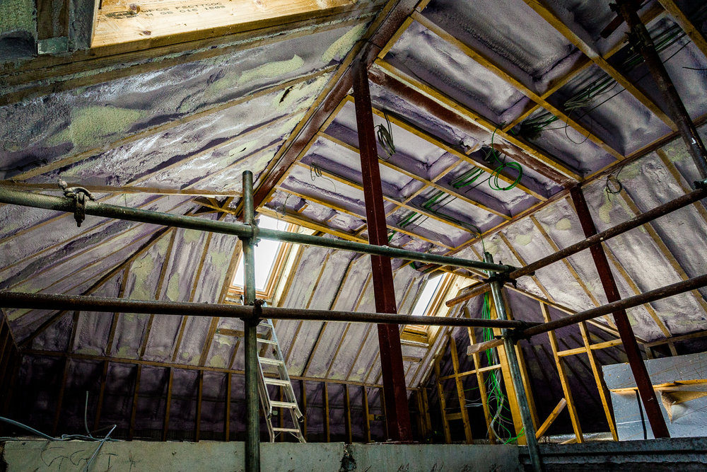 Roof insulation in Poole by Rick McEvoy Construction Photographer