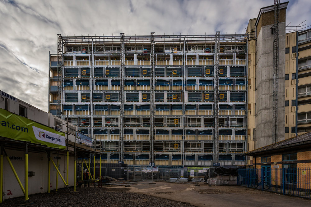 Scaffolding in Portsmouth by construction photographer Rick McEvoy