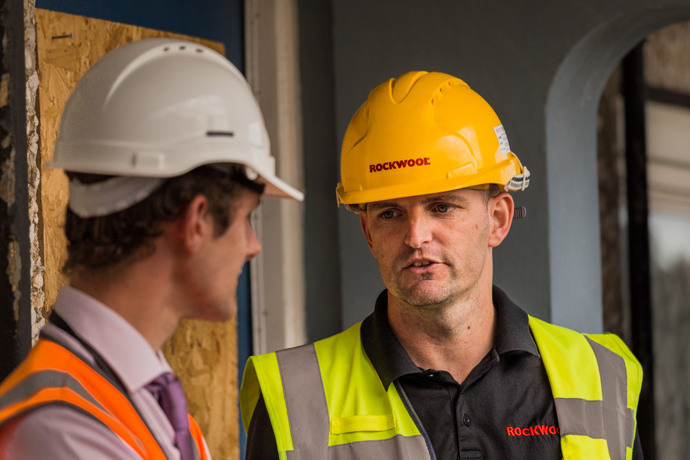 Technical site meeting between two people by construction photographer Rick McEvoy