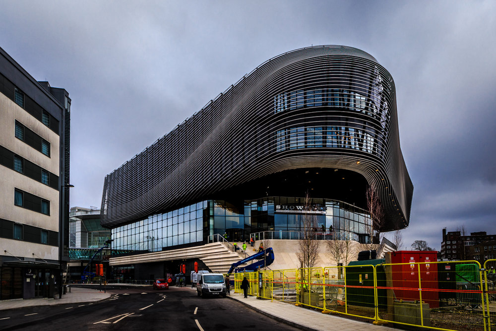 Showcase Cinema de Lux at West Quay by Rick McEvoy Construction Photographer