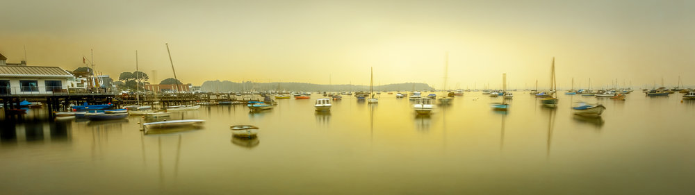 Panoramic picture of Sandbanks, Poole Harbour and Brownsea island by Sandbanks Photographer Rick McEvoy