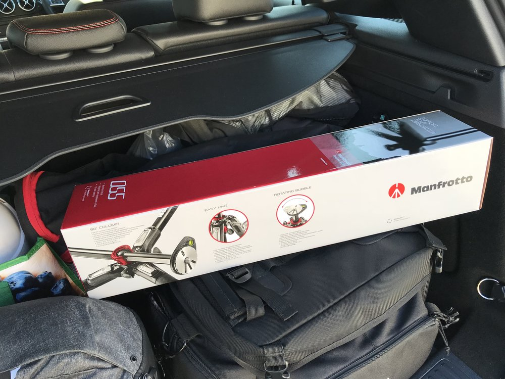 Manfrotto 055 in the boot of my car