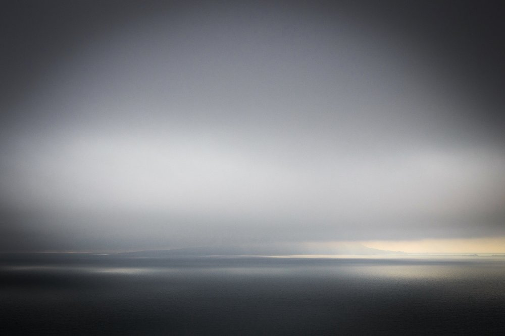 Portland in cloud by Rick McEvoy Dorset Photographer