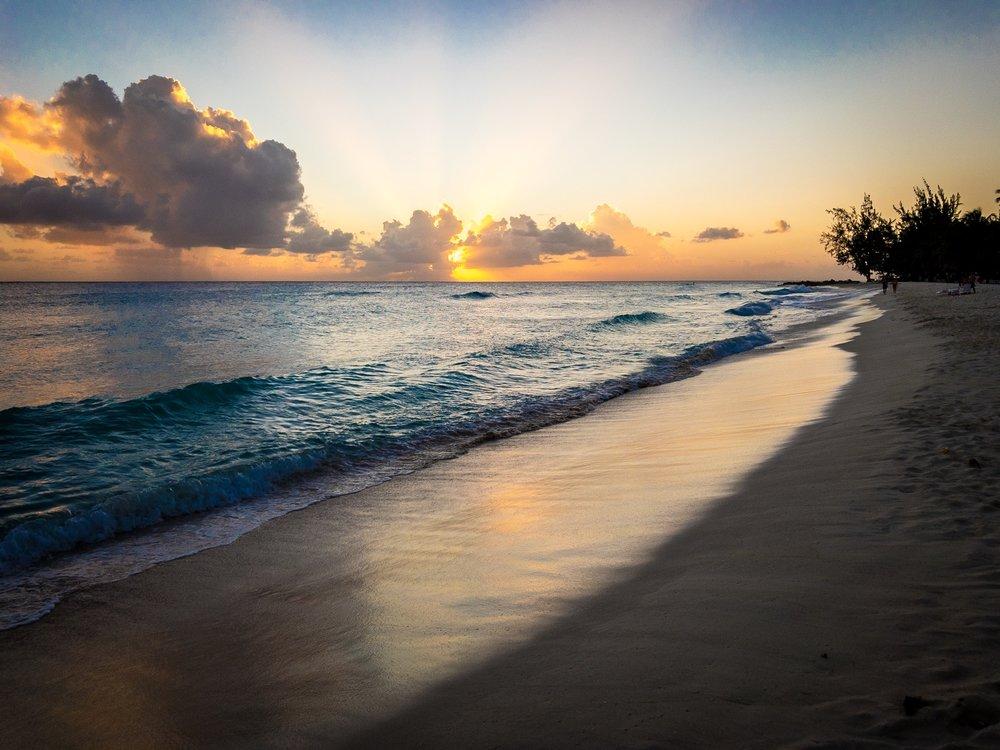 Sunset. Barbados.