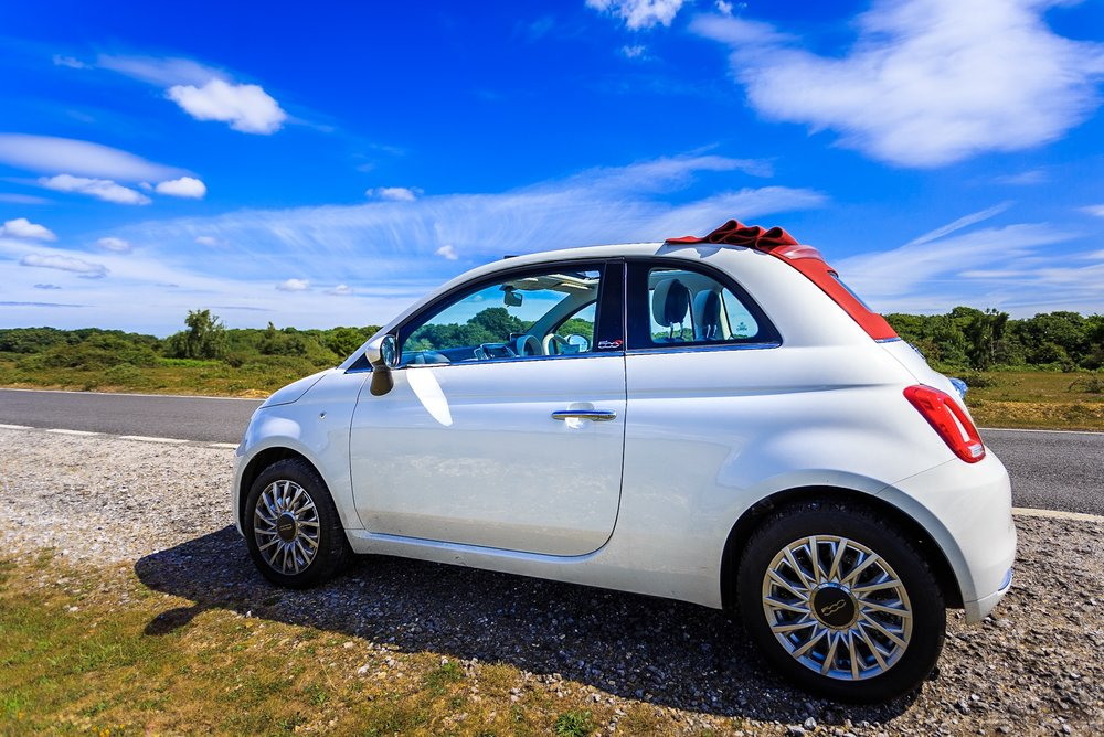 The original photo of the FIat 500C Loungs