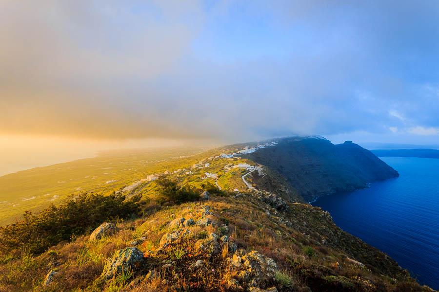 Photo of a Santorini sunrise by Rick McEvoy - Travel Photographer