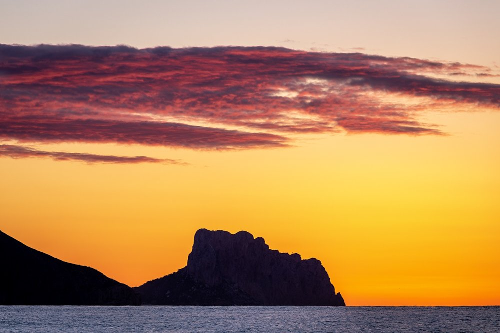 Sunrise view from the beach, Altea, Spain by Travel Photographer Rick McEvoy