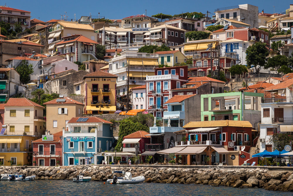 The buildings of Parga, Greece by Travel Photographer Rick McEvo
