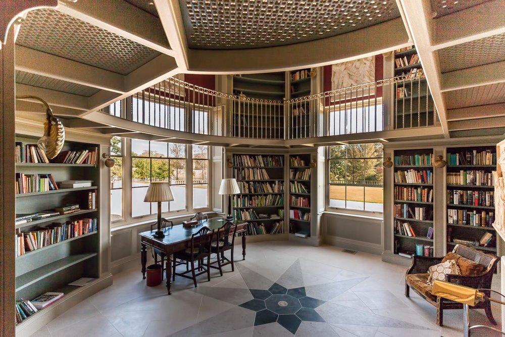 Private library in Dorset by Rick McEvoy Architectural Photographer