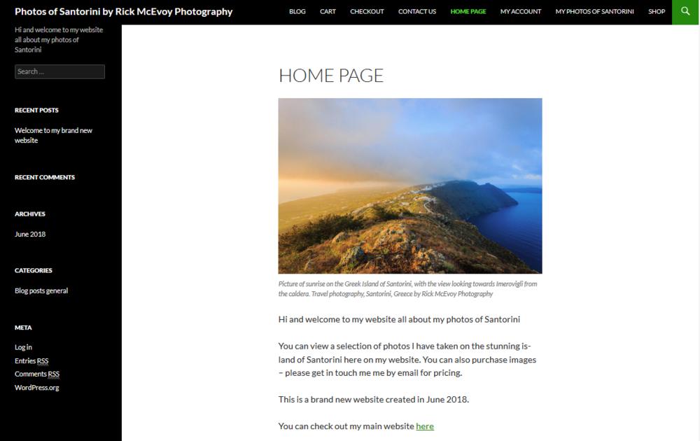 Photos of Santorini website