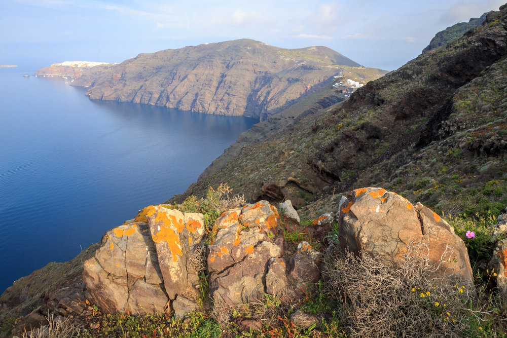 Santorini caldera by travel photographer Rick McEvoy