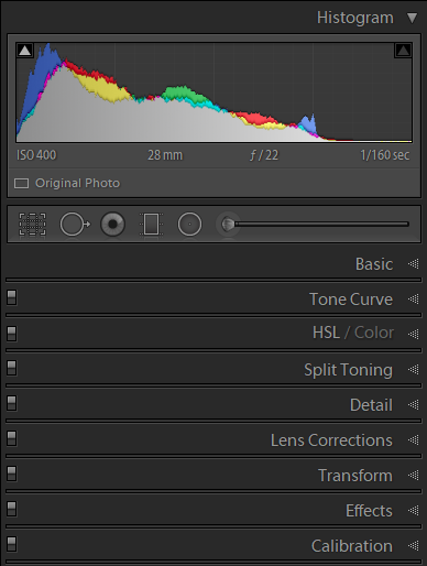The panels in Lightroom Classic