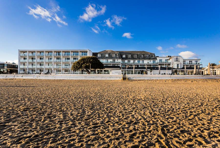 Sandbanks Hotel and Sandbanks Beach, Poole, Dorset