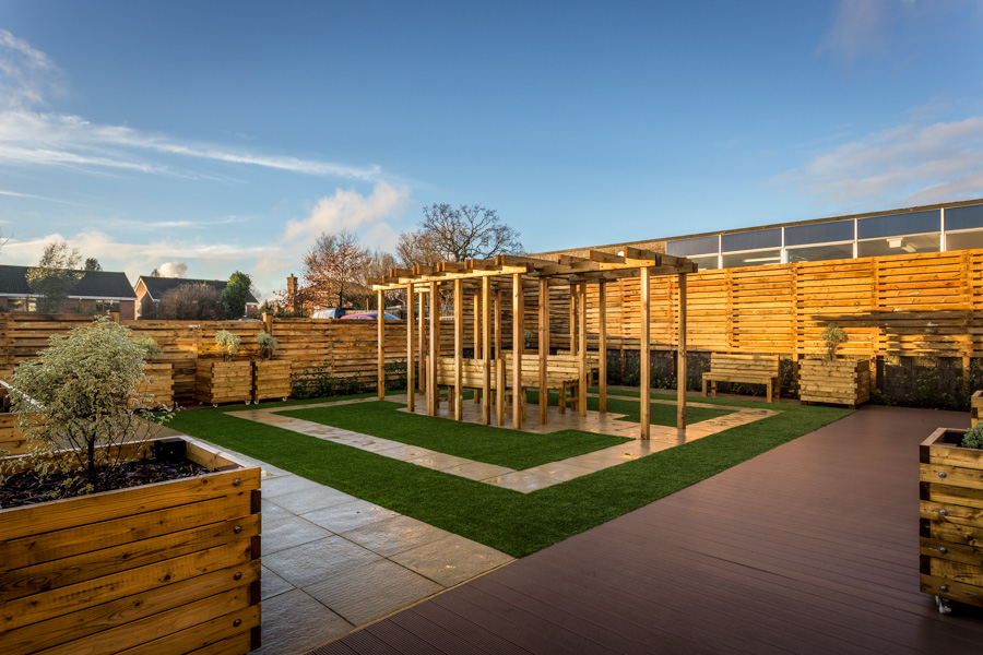 Sensory garden at Horndean College of Technology