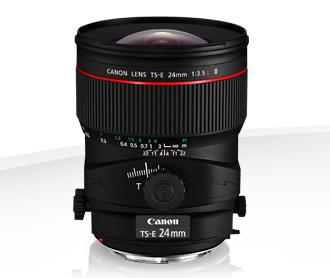 Canon 24mm tilit shift lens