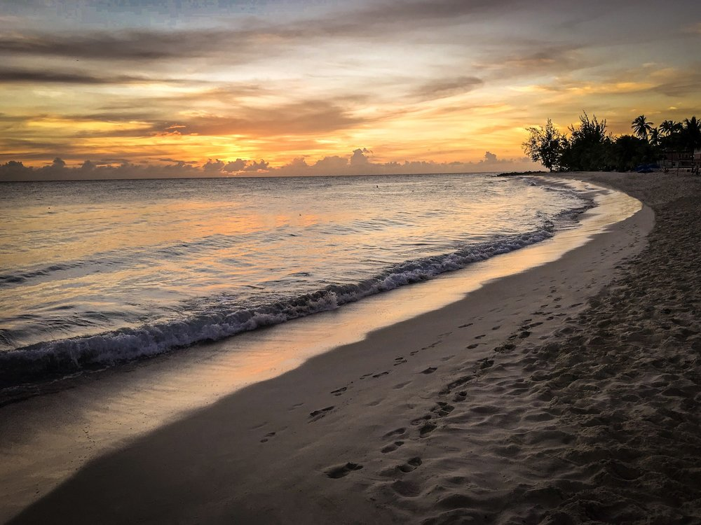 Barbados beach sunset photo by Rick McEvoy Photography