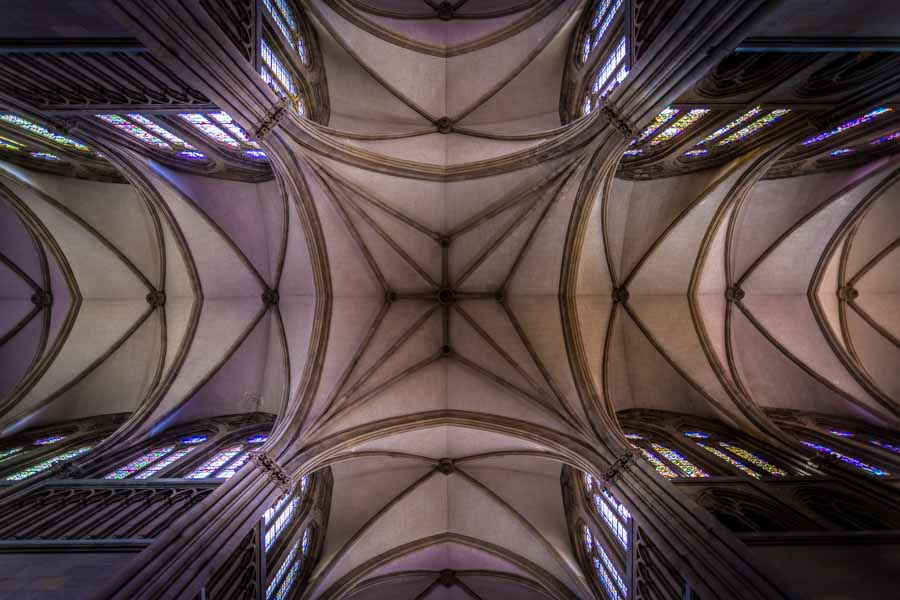The spectacular ceiling of San Sebastian Cathedral