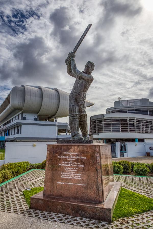 Statue of Sir Garfield Sobers at the Kensingotn Oval Bridgetown