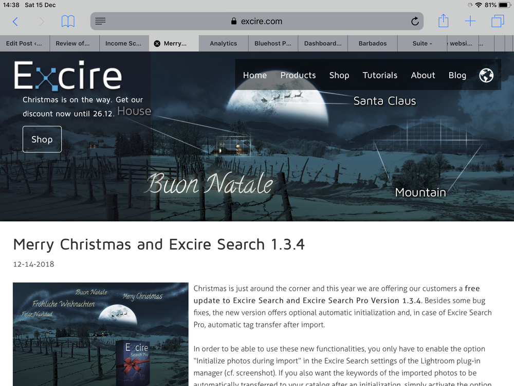 Merry Christmas and Excire Search 1.3.4